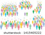 multi colored vector... | Shutterstock .eps vector #1415405222