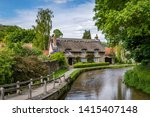 English Thatched Cottage In Th...