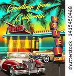greetings from california... | Shutterstock .eps vector #1415450468