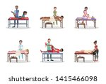 doctor making massage to the...   Shutterstock . vector #1415466098