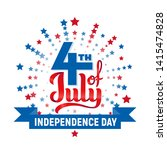 4th of july. usa independence... | Shutterstock .eps vector #1415474828