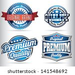 premium quality vintage retro... | Shutterstock .eps vector #141548692
