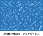 blueprint of stationary tools... | Shutterstock .eps vector #1415494118