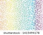 multi color leopard skin... | Shutterstock .eps vector #1415494178