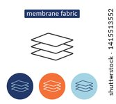 membrane fabric outline icons... | Shutterstock .eps vector #1415513552