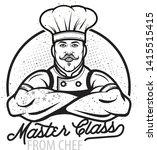 cooking vintage logo. cooking... | Shutterstock .eps vector #1415515415