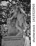 statue of william shakespeare... | Shutterstock . vector #1415523905