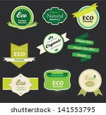 set of labels for natural ... | Shutterstock .eps vector #141553795