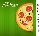 pizza menu template ... | Shutterstock . vector #141556198