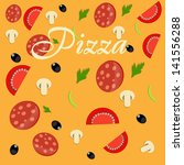 pizza menu template ... | Shutterstock . vector #141556288