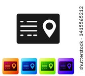 black address book icon...   Shutterstock .eps vector #1415565212
