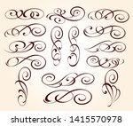 set of elegant decorative... | Shutterstock .eps vector #1415570978