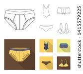 vector design of bikini and...   Shutterstock .eps vector #1415579225