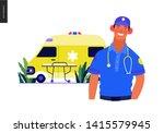medical insurance template ... | Shutterstock .eps vector #1415579945