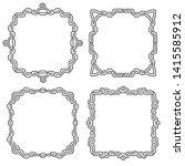 celtic national ornament square ... | Shutterstock .eps vector #1415585912