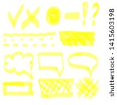 hand drawn highlight marker... | Shutterstock .eps vector #1415603198