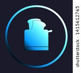 toaster simple sign. white ... | Shutterstock .eps vector #1415612765