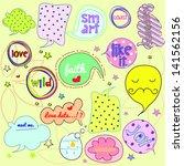 sweet  speech bubbles and...   Shutterstock .eps vector #141562156