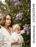outdoor fashion portrait of...   Shutterstock . vector #1415625548