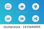 visual icon set vector design
