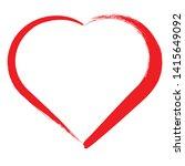 set of hearts . grunge stamps... | Shutterstock .eps vector #1415649092