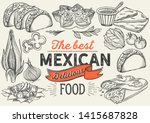 mexican food illustrations  ... | Shutterstock .eps vector #1415687828