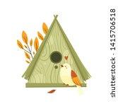 vector colorful birdhouses ... | Shutterstock .eps vector #1415706518