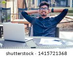 handsome and successful indian... | Shutterstock . vector #1415721368