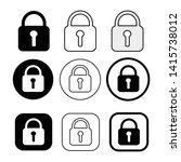 set of simple sign lock icon   Shutterstock .eps vector #1415738012