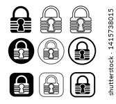 set of simple sign lock icon   Shutterstock .eps vector #1415738015