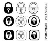 set of simple sign lock icon   Shutterstock .eps vector #1415738018