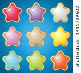 gems stars 9 colors for puzzle...