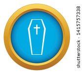 coffin icon blue vector...   Shutterstock .eps vector #1415757338