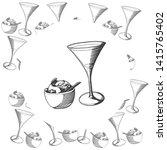 cosmopolitan sorbet vintage...   Shutterstock . vector #1415765402