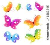 Stock vector butterflies design 141583345