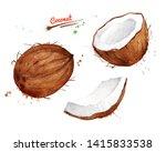 watercolor illustration set of... | Shutterstock . vector #1415833538