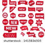 set of new ribbons. corner... | Shutterstock .eps vector #1415836505