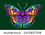 tropical butterfly. abstract ... | Shutterstock .eps vector #1415837558
