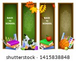 back to school banners with... | Shutterstock .eps vector #1415838848