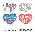 vector phrase i love usa. set... | Shutterstock .eps vector #1415843135