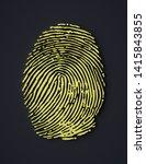 fingerprint symbol   3d render | Shutterstock . vector #1415843855