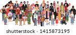 socially diverse multicultural... | Shutterstock .eps vector #1415873195