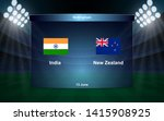 india vs new zealand cricket... | Shutterstock .eps vector #1415908925