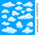 white clouds set. abstract ... | Shutterstock .eps vector #1415909765