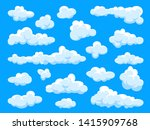 white clouds set. abstract ... | Shutterstock .eps vector #1415909768