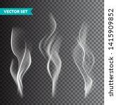 realistic cigarette smoke set... | Shutterstock .eps vector #1415909852