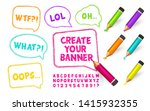 sketch of banners  colorful... | Shutterstock .eps vector #1415932355