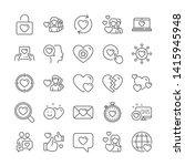 love line icons. heart  couple... | Shutterstock .eps vector #1415945948