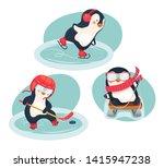 winter sports. childrens sports ... | Shutterstock . vector #1415947238