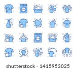 laundry line icons. dryer ... | Shutterstock .eps vector #1415953025